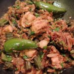 Bhindi Chicken bonne less